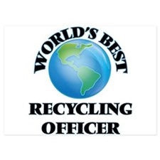 World's Best Recycling Officer Invitations
