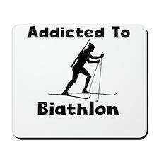 Addicted To Biathlon Mousepad
