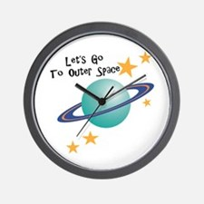 To Outer Space Wall Clock