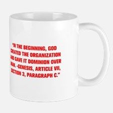 IN THE BEGINNING GOD CREATED THE ORGANIZATION AND
