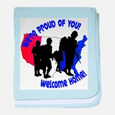 Welcome Home:We're Proud of You! baby blanket