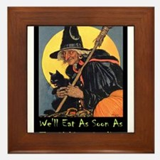 Halloween_WITCH - WELL EAT 10x14 GREEN.png Framed