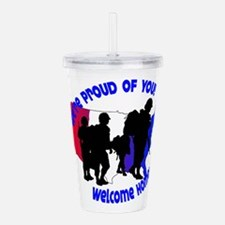 Welcome Home:We're Pro Acrylic Double-wall Tumbler
