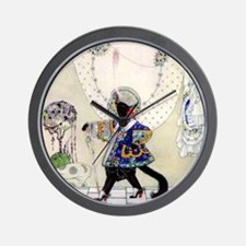 Puss In Boots by Kay Nielsen Wall Clock