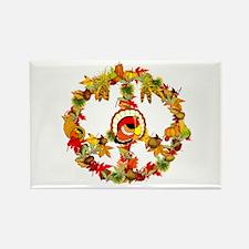 Peace Turkey Rectangle Magnet