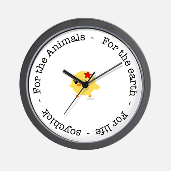 For the Animals, Earth and Life Wall Clock