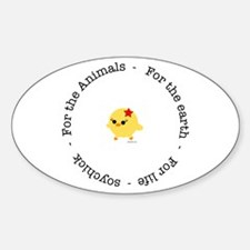 For the Animals, Earth and Life Oval Decal
