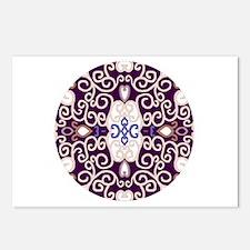 Art Nouveau (purple/ivory) Postcards (8 pack)