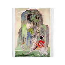 Sleeping Beauty Prince by Kay Nielsen Throw Blanke
