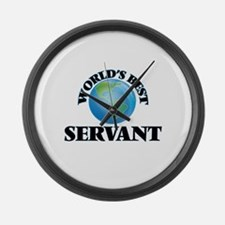 World's Best Servant Large Wall Clock