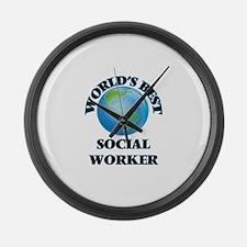World's Best Social Worker Large Wall Clock