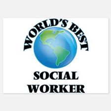 World's Best Social Worker Invitations