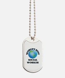 World's Best Social Worker Dog Tags
