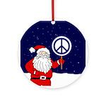 Santa Peace Sign Christmas Ornament