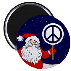 Santa Claus Peace Sign Magnet (10 pack)