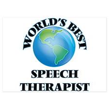 World's Best Speech Therapist Invitations