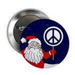 Santa Claus Peace Sign Button (10 pack)