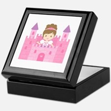 Cute Princess in Pink Castle Keepsake Box