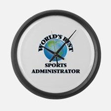 World's Best Sports Administrator Large Wall Clock