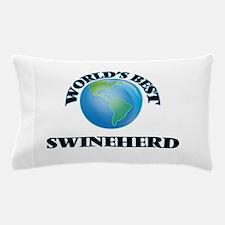 World's Best Swineherd Pillow Case