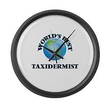 World's Best Taxidermist Large Wall Clock