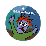 United We Freak Out Xmas Tree Ornament