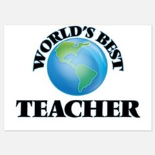 World's Best Teacher Invitations