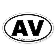 "Avalon, New Jersey ""AV"" Oval Decal"