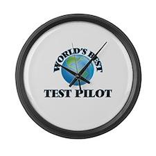 World's Best Test Pilot Large Wall Clock