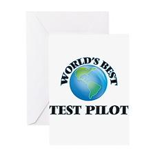 World's Best Test Pilot Greeting Cards