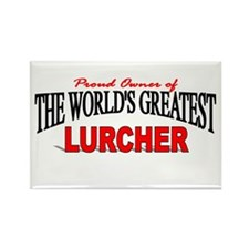"""""""The World's Greatest Lurcher"""" Rectangle Magnet"""
