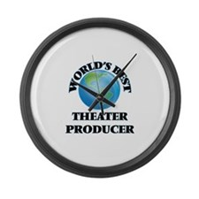 World's Best Theater Producer Large Wall Clock
