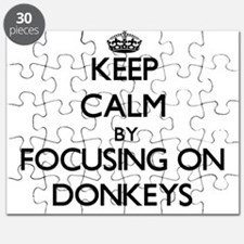 Keep Calm by focusing on Donkeys Puzzle