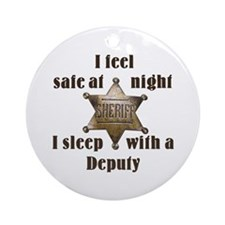 Safe at Night Deputy Ornament (Round)