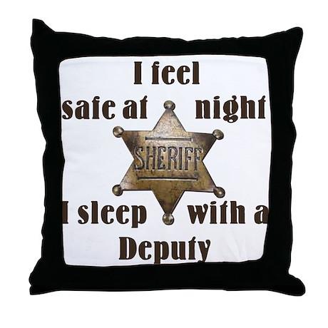 Safe at Night Deputy Throw Pillow