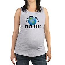 World's Best Tutor Maternity Tank Top