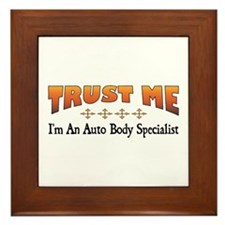 Trust Auto Body Specialist Framed Tile