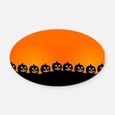 Pumpkins! Oval Car Magnet