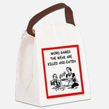 word games Canvas Lunch Bag