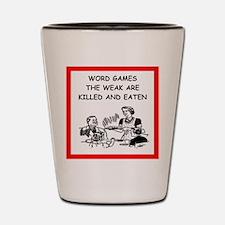 word games Shot Glass