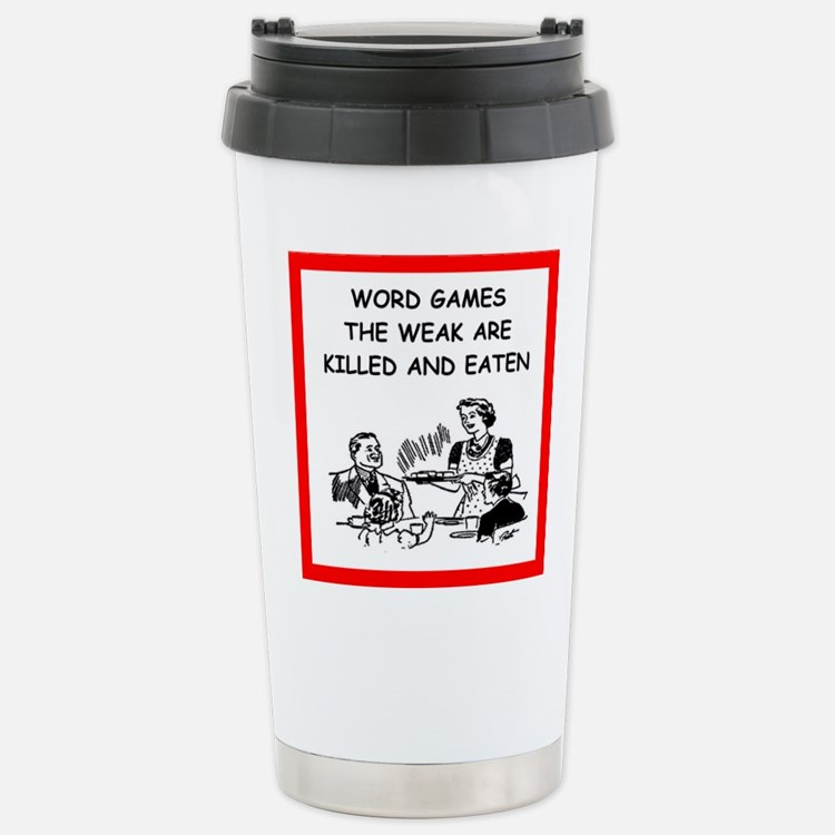 word games Travel Mug