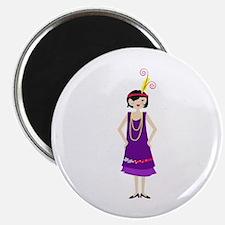 Flapper Girl Magnets