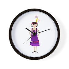 Flapper Girl Wall Clock
