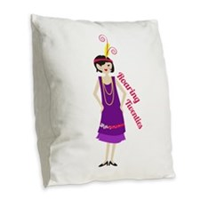Roaring Twenties Burlap Throw Pillow