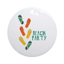 Beach Party Ornament (Round)