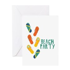 Beach Party Greeting Cards