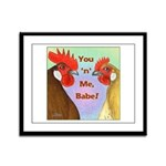 You N Me Babe! Framed Panel Print