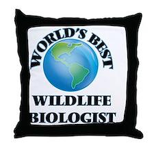 World's Best Wildlife Biologist Throw Pillow