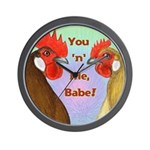 You N Me Babe! Wall Clock