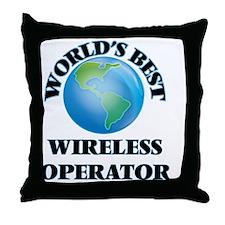 World's Best Wireless Operator Throw Pillow